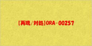 ORA-00257