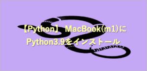 macbook(m1) python install