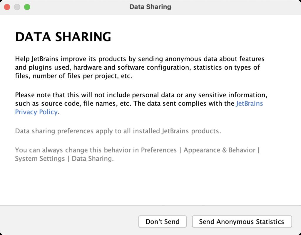 PyCharm DATA SHARING