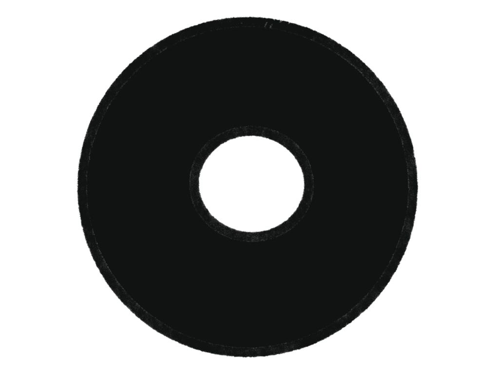 ワードクラウドの形 ドーナツ