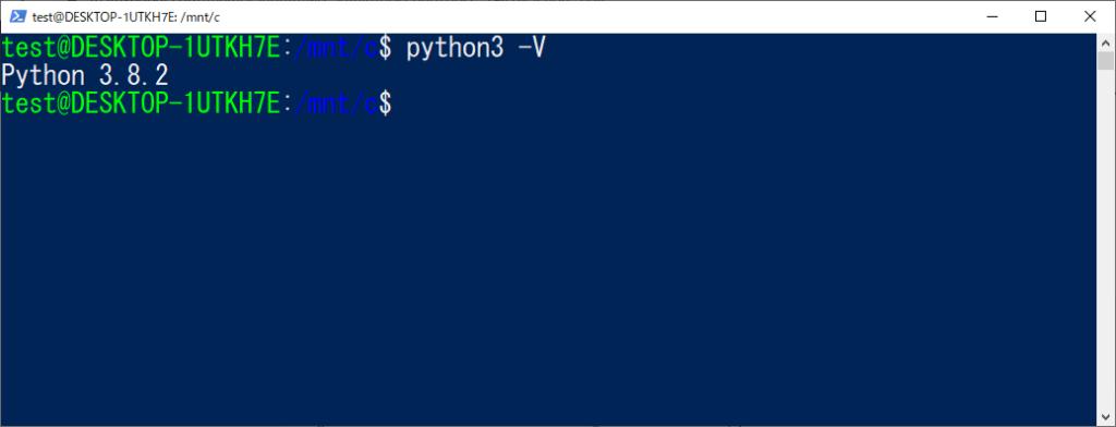 python3 -V
