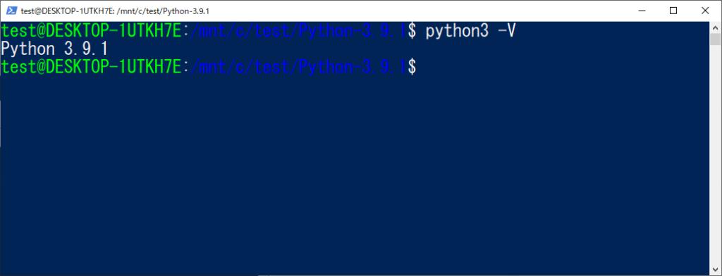 Python3.9.1の確認