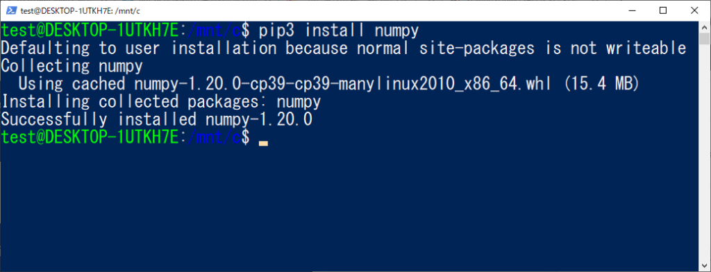 pip install Defaulting to user installation because normal site-packages is not writeable