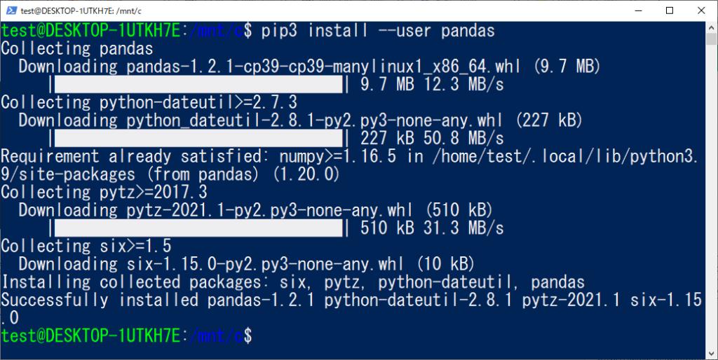 pip install --user