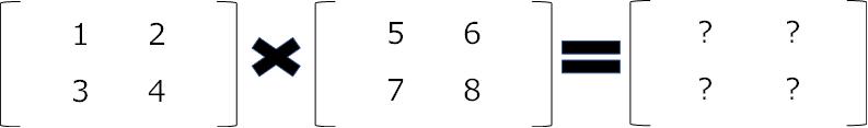 同じ形状の行列の数式